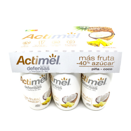 ACTIMEL PINYA/COCO MENYS SUCRE X6
