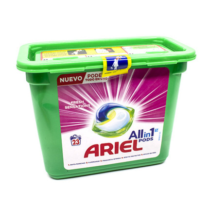 ARIEL DETERGENT CAPS 3N1 SENS 23DO