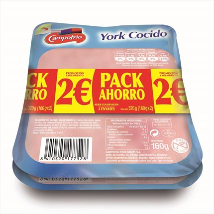 CAMPOFRIO YORK CUIT PACK 2X170GR