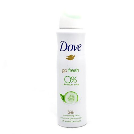 DOVE DEO SPRAY 0% PEPINO Y TE VERDE 150ML