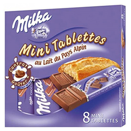 MILKA MINI TABLETES 232GR