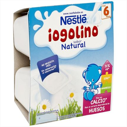 NESTLE IOGULINO NATURAL 4X100GR