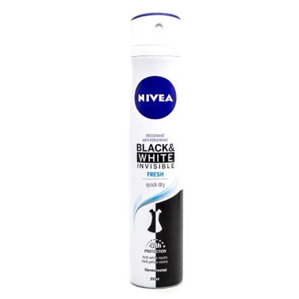 NIVEA DEO SPRAY INV.FRESH BL&WH 200ML