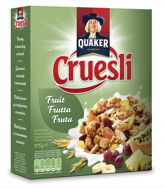 QUAKER CRUESLI FRUIT 375G